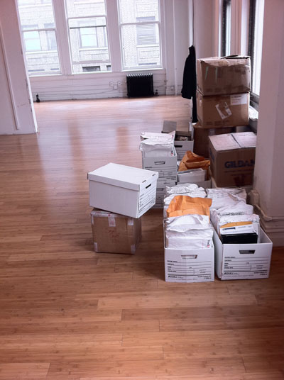 Moving in.