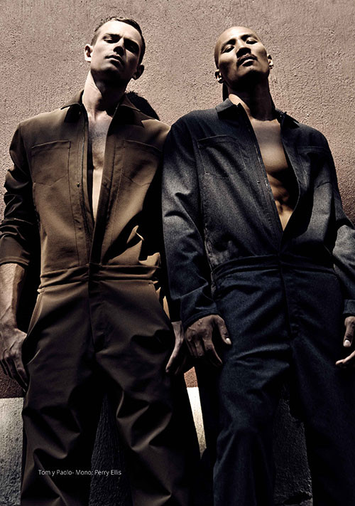 Tom barker and Paolo Roldan for Risbel Magazine