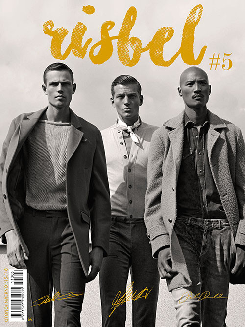Tom Barker, Sebastian Sauve and Paolo Roldan for Risbel Magazine