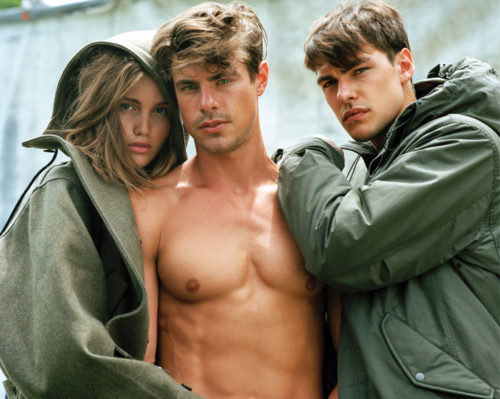 Jules Horn, Filip Wolfe and Phoenix by Bruce Weber for VMan Magazine