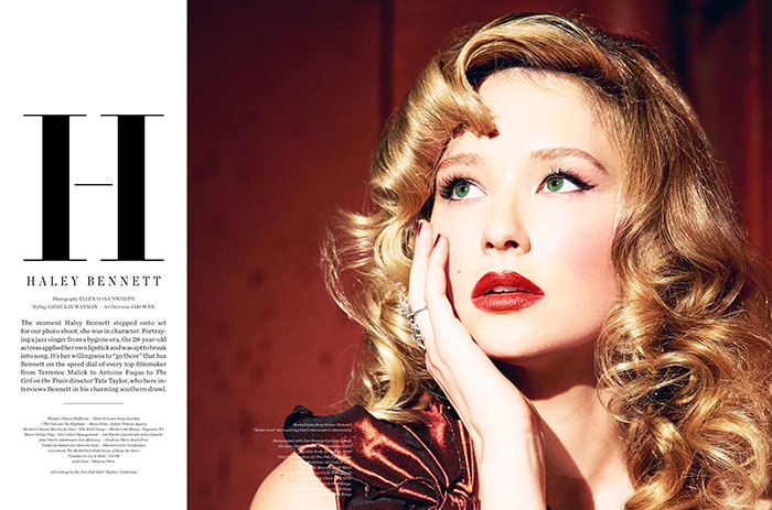 Filip Wolfe for Vs Magazine - Haley Bennett by Ellen Von Unwerth
