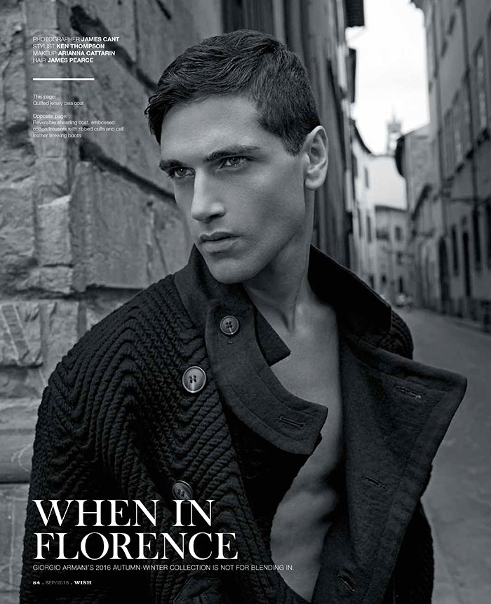 Fabio Mancini for WISH Magazine shot by James Cant