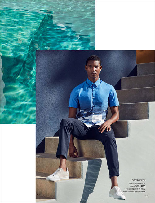 70004358224 Lord   Taylor New Men s Style Guide Spring 2017 Catalog with top models  Brad Allen and Connor Newall. In charge of photography was Bruno Staub
